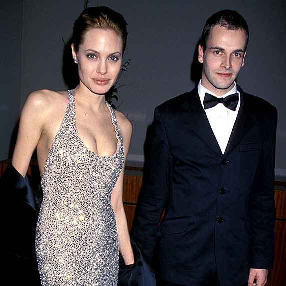 Angelina Jolie and Jonny Lee Miller married young