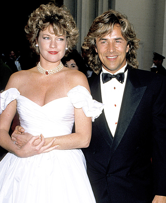 Melanie Griffith and Don Johnson married young