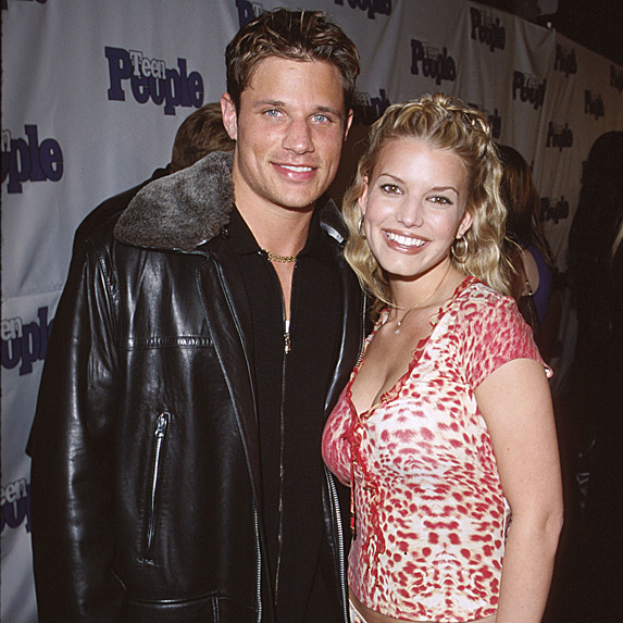 Nick Lachey and Jessica Simpson married young