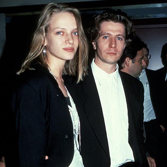 Uma Thurman and Gary Oldman married young