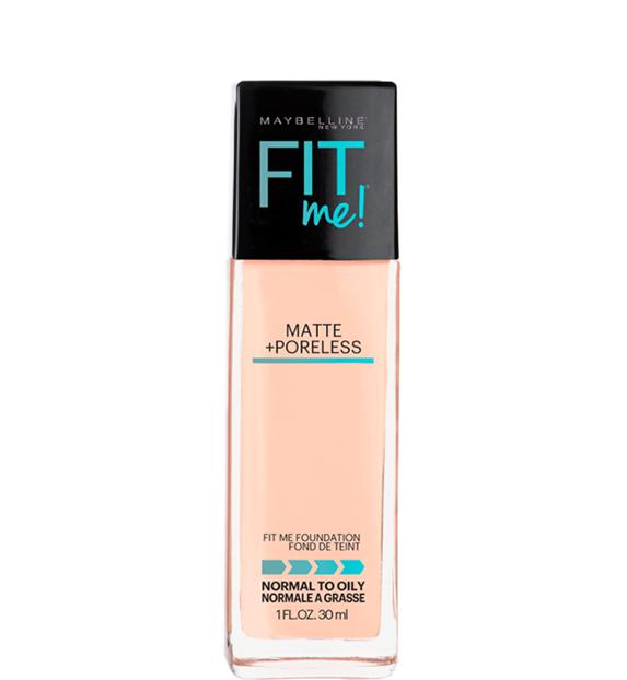 best-drugstore-foundation-oily-skin-maybelline-fit-me-matte-foundation