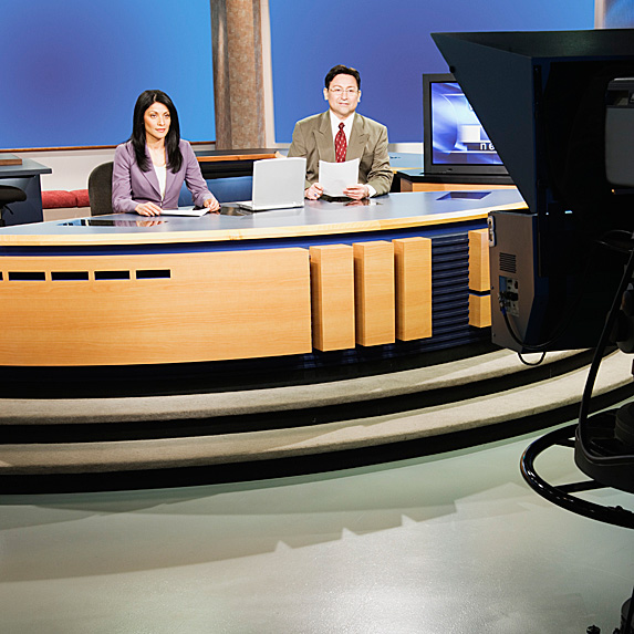Two news anchors