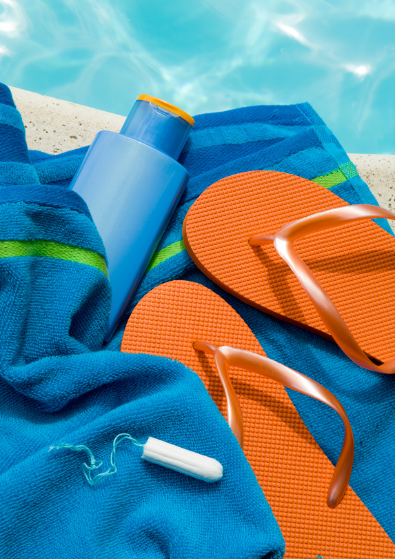 packing list Feminine hygiene products at the beach