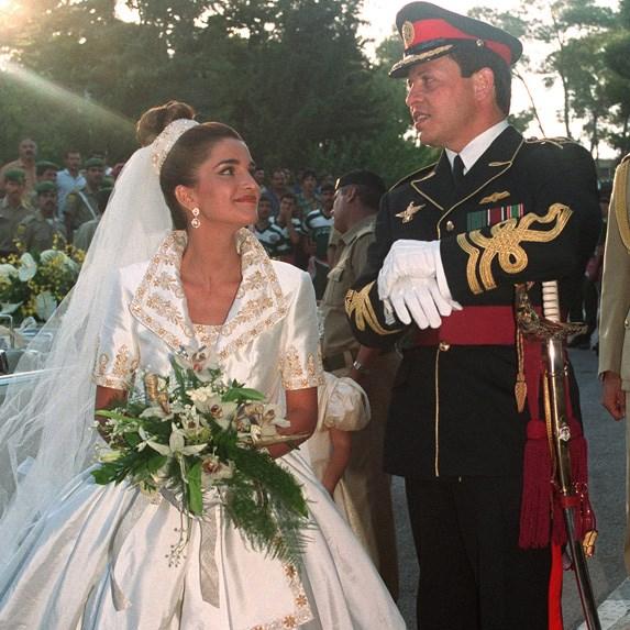 Prince Abdullah bin Al-Hussein and Rania Al-Yassin