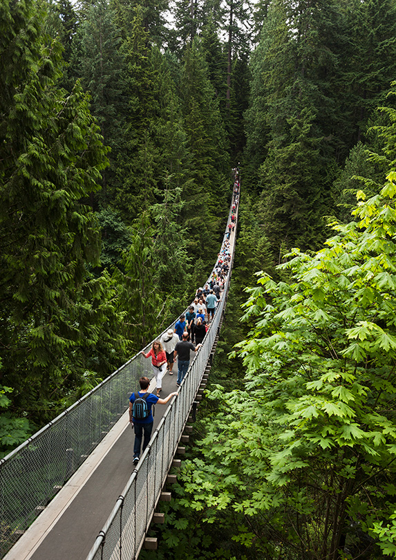 Vancouver suspension bridge and cost of other Canadian tourist attractions