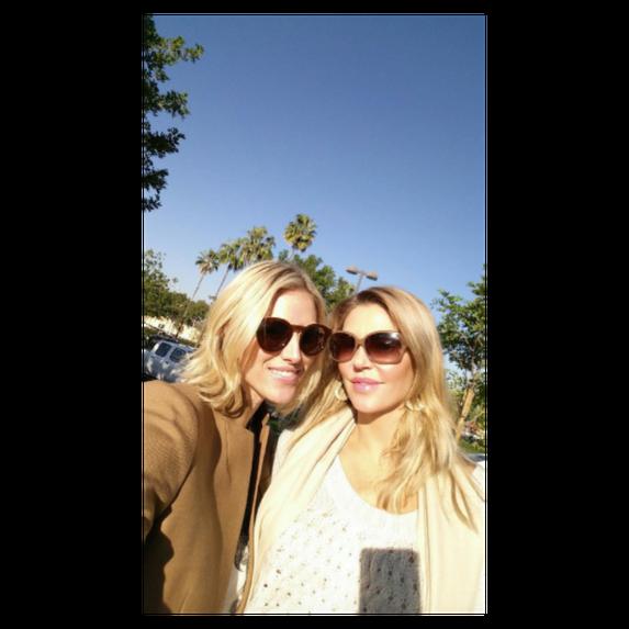 selfie of brandi glanville and kriten taekman