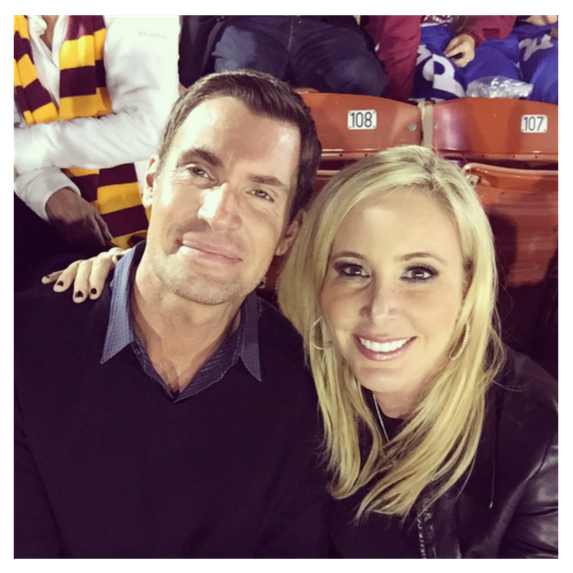 jeff and shannon at a usc game