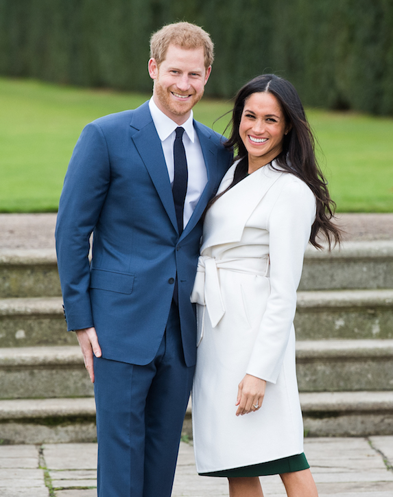 Prince Harry and Meghan Markle announce their engagement in the Sunken Gardens at Kensington Palace