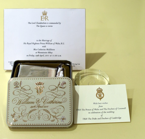 The royal wedding invitations and thank you note and memento from Prince William and Kate Middleton's wedding
