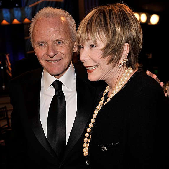 Anthony Hopkins and Shirley MacLaine