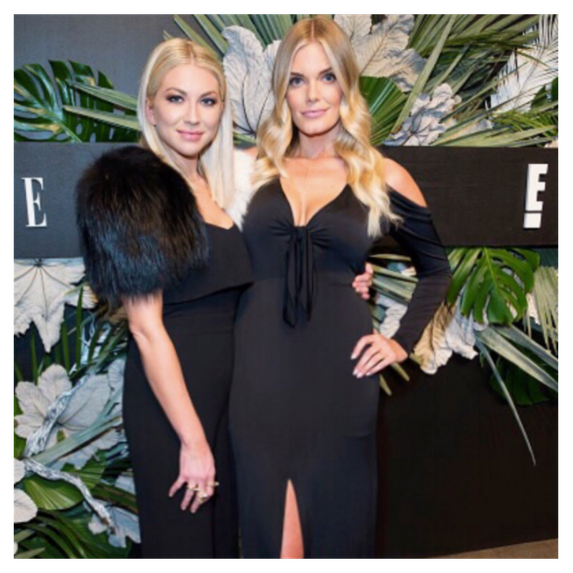 stassi and lauren pose for a pic at nyfw