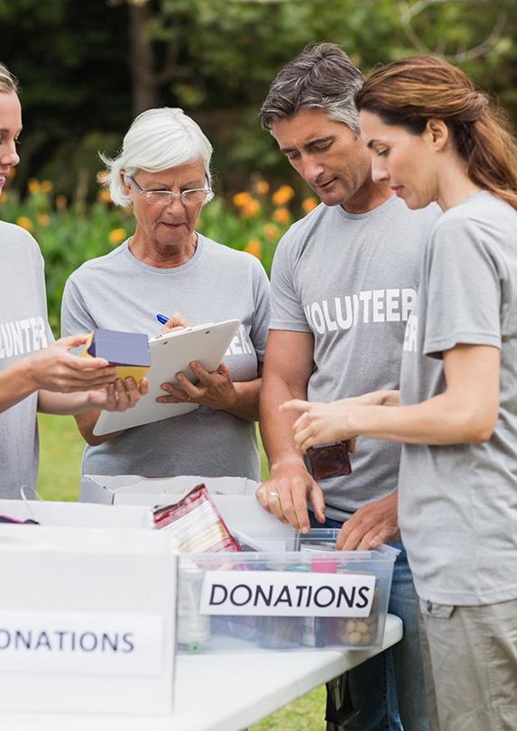 Retirees volunteering