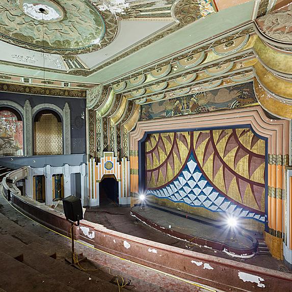 Interior of abandoned theatre Philadelphia