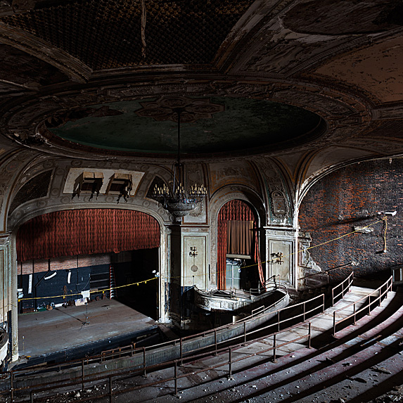Interior of abandoned theatre in new york