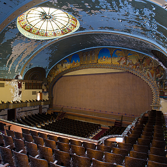 Interior of abandoned theatre in the USA