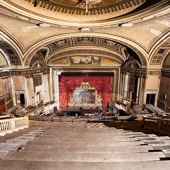 Interior of abandoned theatre in Connecticut