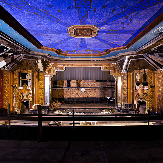 Interior of abandoned theatre in NY
