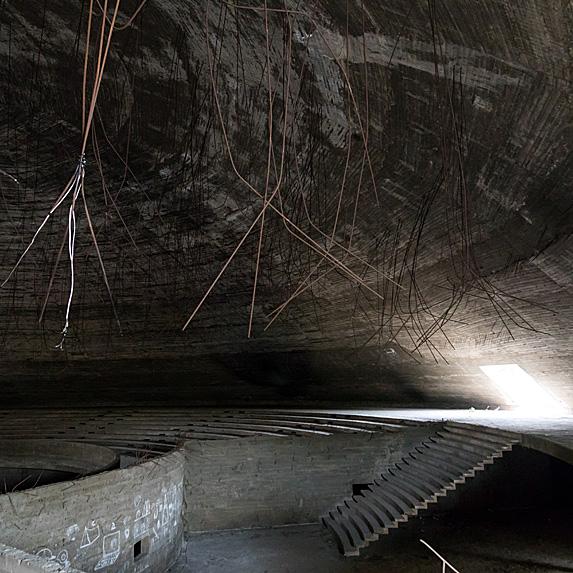 Interior of abandoned theatre in Lebanon