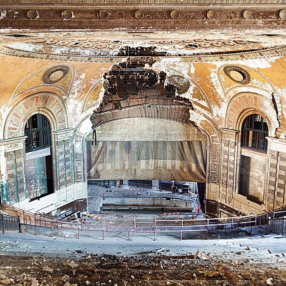 Interior of abandoned theatre in Brooklyn