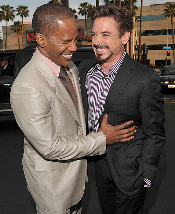 Jamie Foxx and Robert Downey Jr.