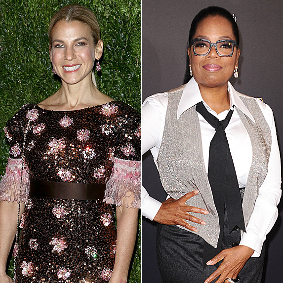 Jessica Seinfeld and Oprah Winfrey