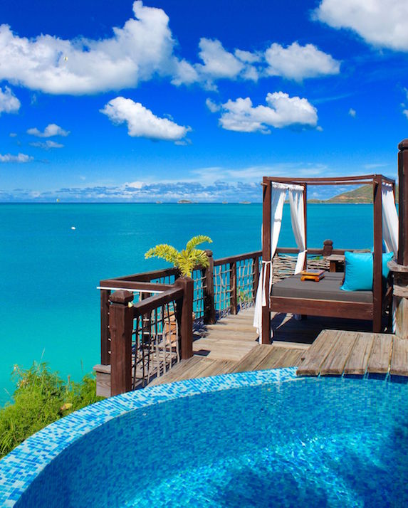 Luxurious views from a private villa