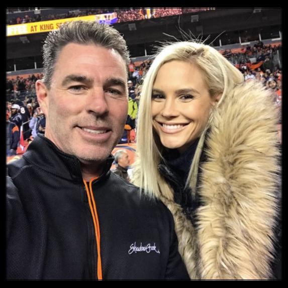 selfie of meghan and jim in a stadium