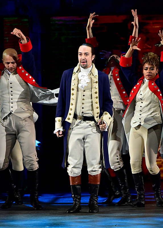 Cast of Hamilton during the 2017 Tony Awards