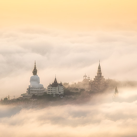 Big Buddha in the clouds in Thailand