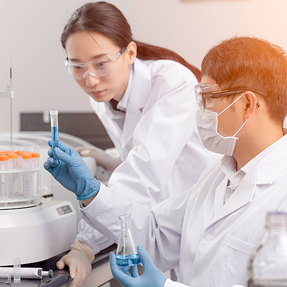 Woman and man in lab
