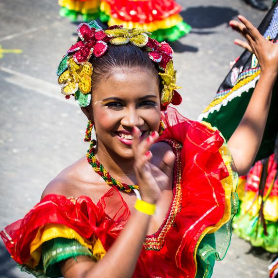 Dancer in Barranquilla, Colombia