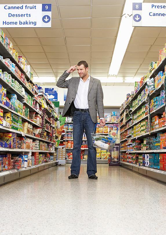 Man shopping