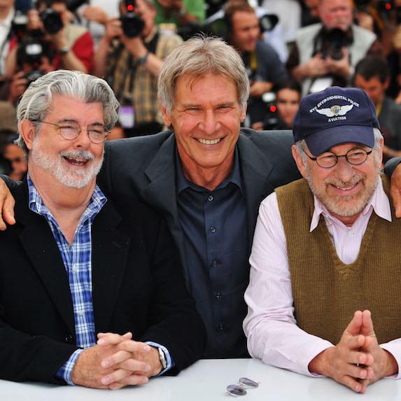 George Lucas, Harrison Ford and Steven Spielberg at Cannes