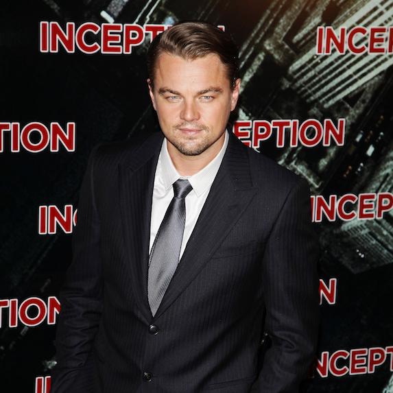 Leonardo DiCaprio at the premiere of Inception