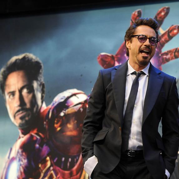 Robert Downey Jr at the Marvel Avengers Assemble European Premiere