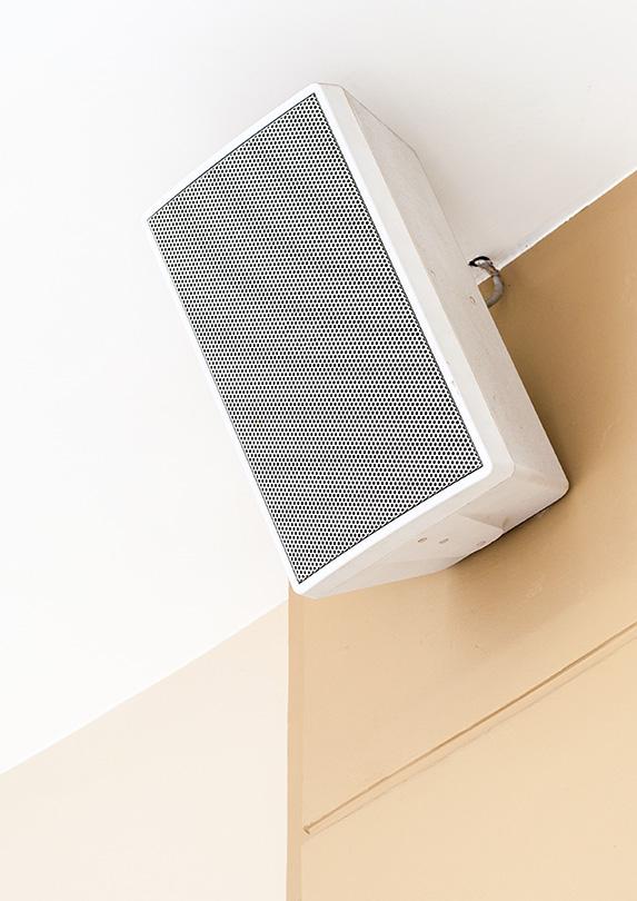 Speaker in a store
