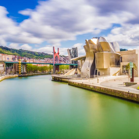 Cityscape of Bilbao, Spain