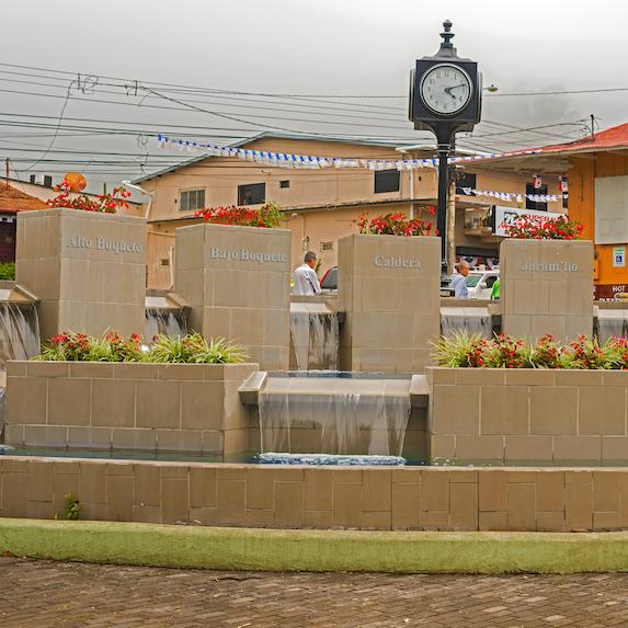 Town square in Boquete, Panama