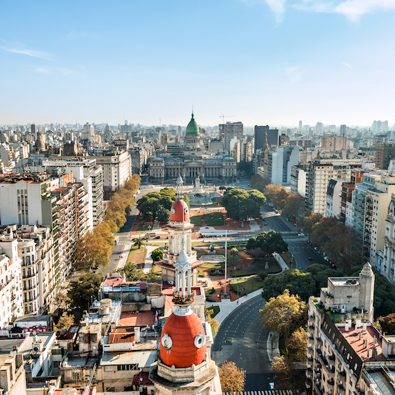 High Angle View Of Buenos Aires, Argentina