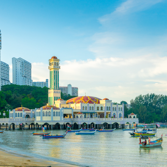 waterfront at George Town, Malaysia