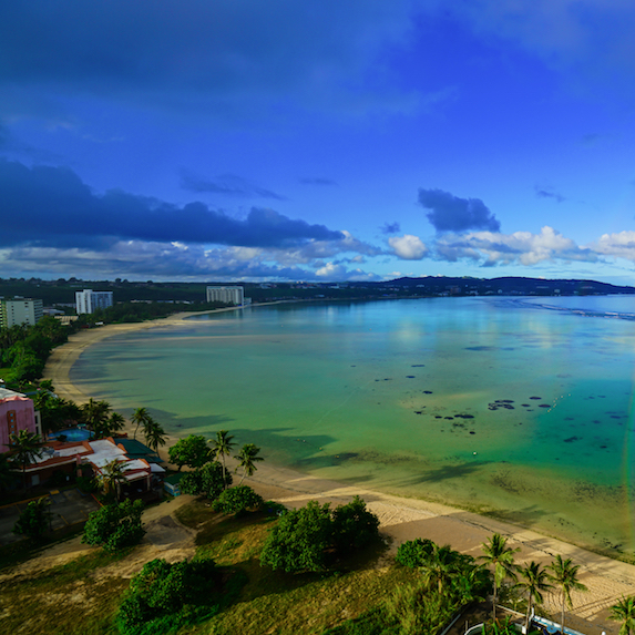 Coastal beach in Guam