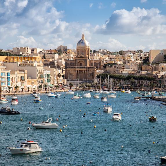 marina in Valetta, Malta