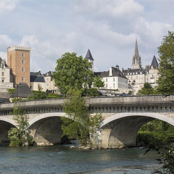 bridge in Pau, France