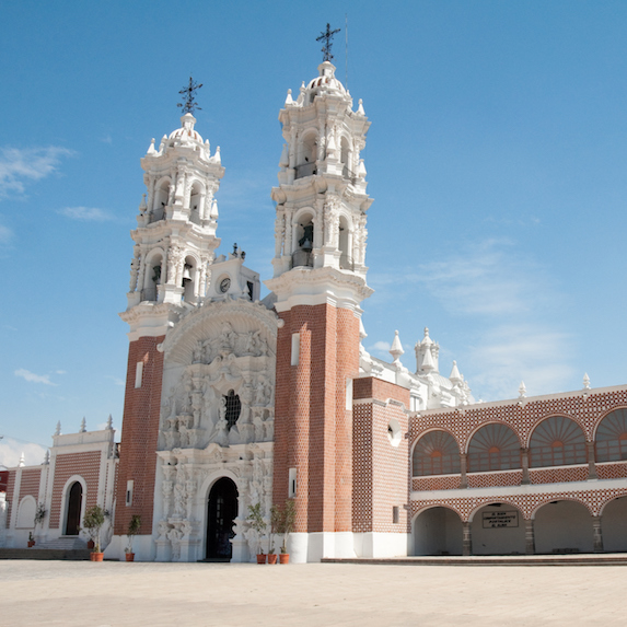 church in Tlaxcala, Mexico