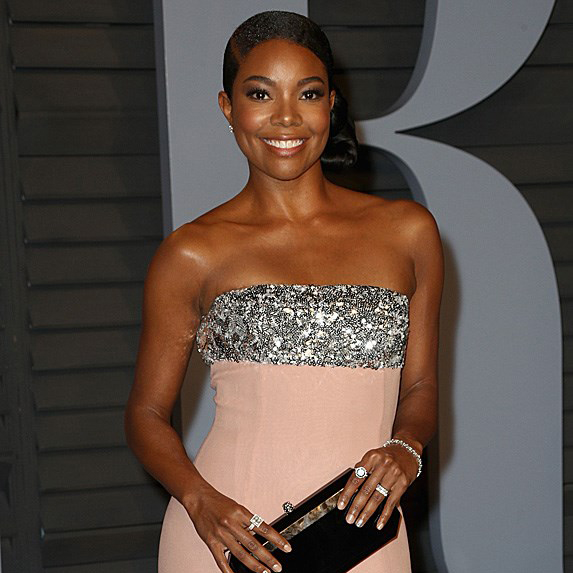 Gabrielle Union in pink and silver dress