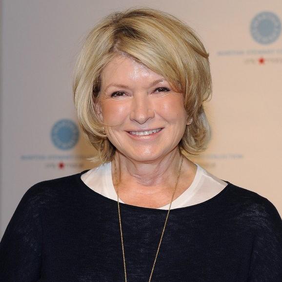 Martha Stewart in sweater