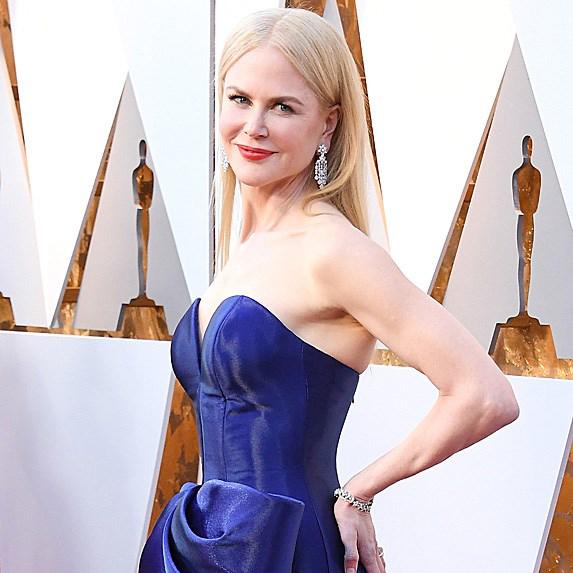 Nicole Kidman in blue gown