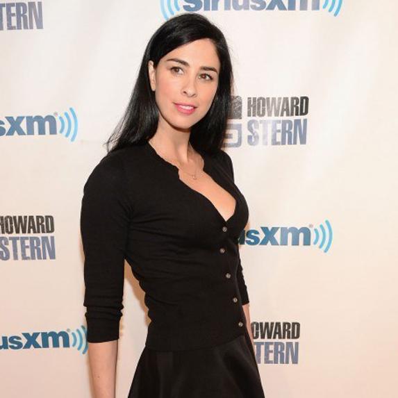 Sarah Silverman in black dress