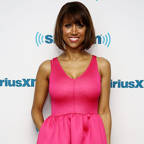 Stacey Dash in pink dress
