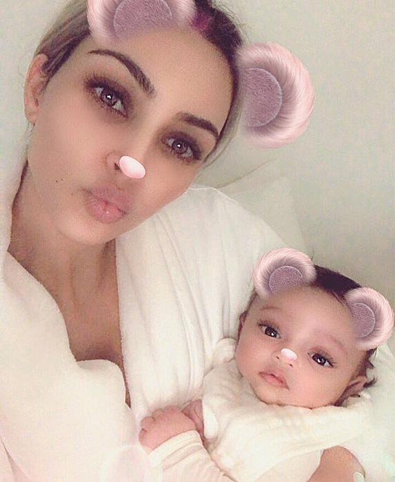 Kim Kardashian and daughter Chicago